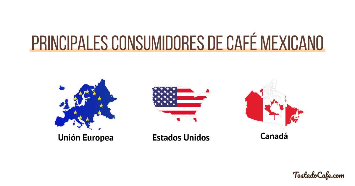 principales consumidores de cafe mexicano