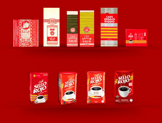 evolución del café sello rojo