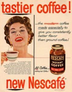 publicidad vieja de café Nescafé