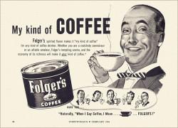 publicidad vieja de café Folgers