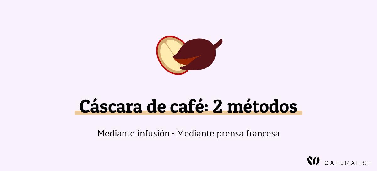 metodos de preparacion de la cascara de cafe