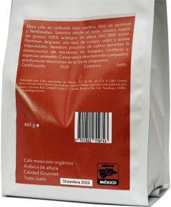Ehya Café Orgánico descafeinado natural 2