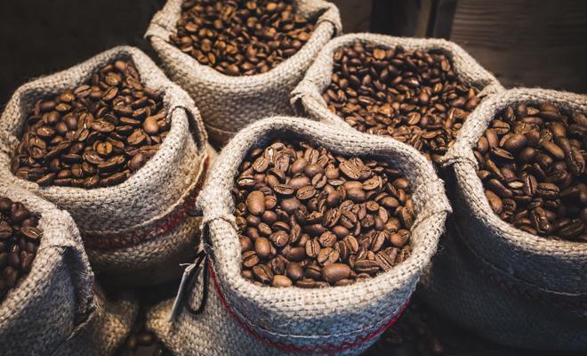 bolsas de granos de café