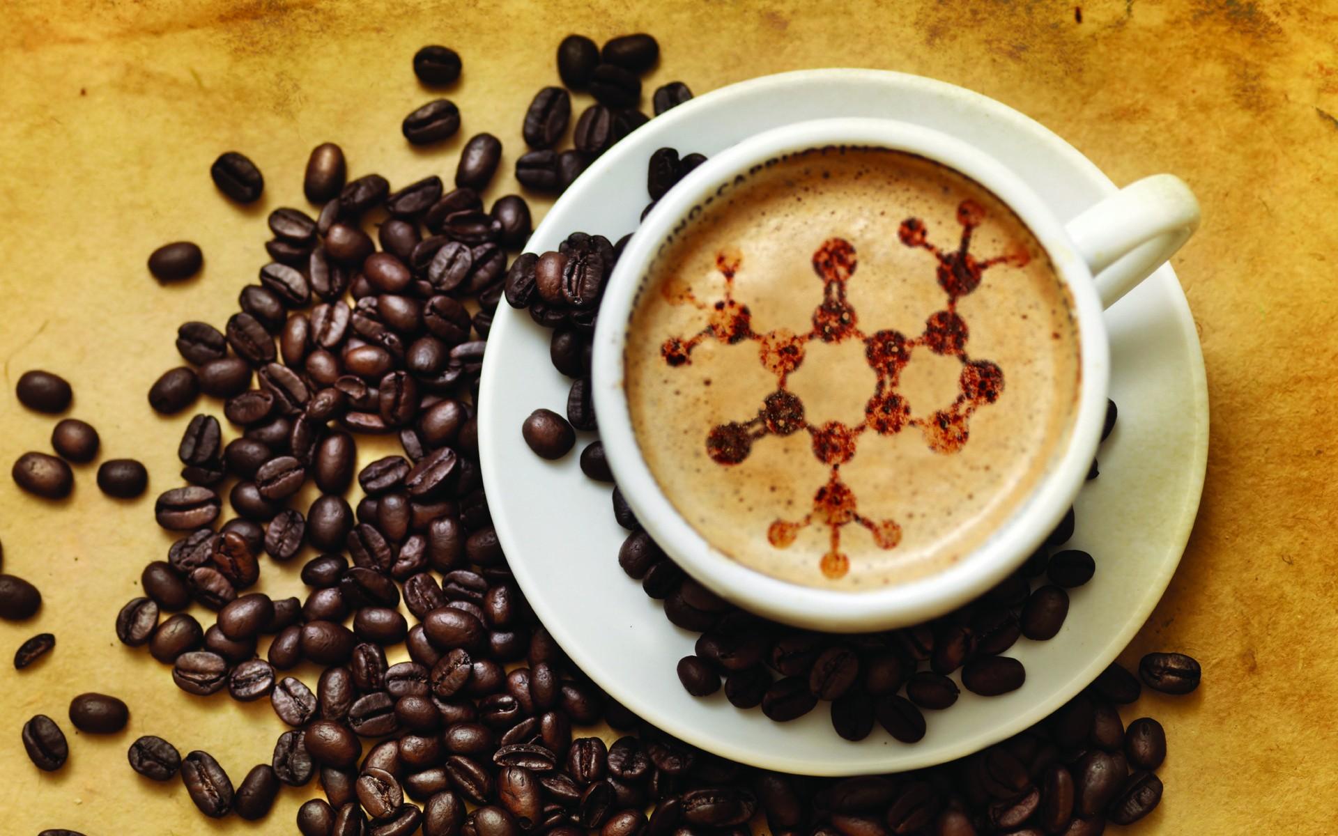 espuma de café con forma de cadena de adn